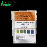 Индикаторные полоски для вина рН 2.8-4.4, Johnson