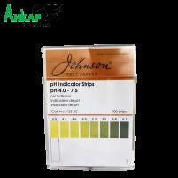 Нерастекающиеся индикаторные полоски для молока рН 4.0-7.5,  Johnson